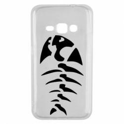 Чехол для Samsung J1 2016 скелет рыбки
