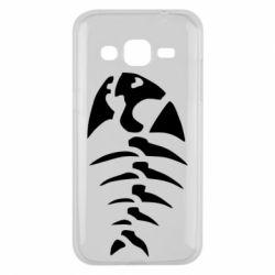 Чехол для Samsung J2 2015 скелет рыбки