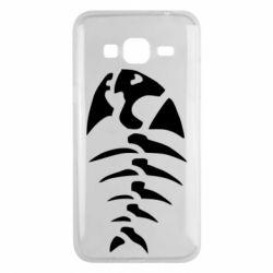 Чехол для Samsung J3 2016 скелет рыбки