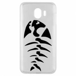 Чехол для Samsung J4 скелет рыбки