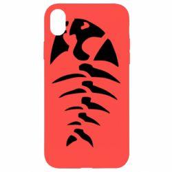 Чехол для iPhone XR скелет рыбки