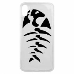 Чехол для iPhone Xs Max скелет рыбки