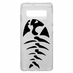 Чехол для Samsung S10+ скелет рыбки