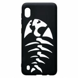 Чехол для Samsung A10 скелет рыбки