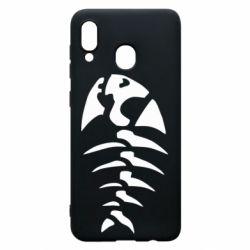 Чехол для Samsung A20 скелет рыбки