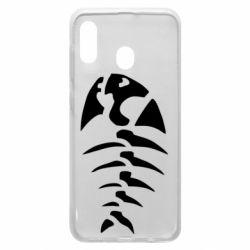 Чехол для Samsung A30 скелет рыбки
