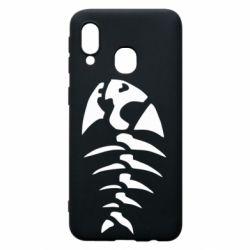 Чехол для Samsung A40 скелет рыбки