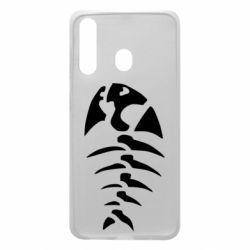 Чехол для Samsung A60 скелет рыбки