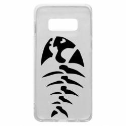 Чехол для Samsung S10e скелет рыбки