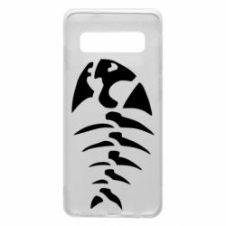 Чехол для Samsung S10 скелет рыбки