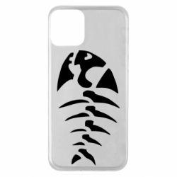 Чехол для iPhone 11 скелет рыбки