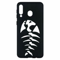 Чехол для Samsung M30 скелет рыбки