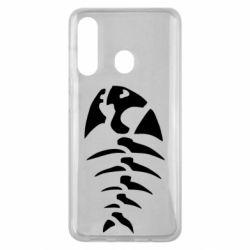 Чехол для Samsung M40 скелет рыбки