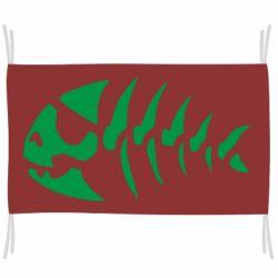 Флаг скелет рыбки