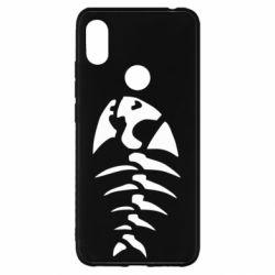 Чехол для Xiaomi Redmi S2 скелет рыбки