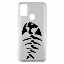 Чехол для Samsung M30s скелет рыбки