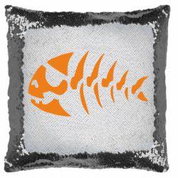 Подушка-хамелеон скелет рыбки
