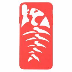 Чехол для iPhone X/Xs скелет рыбки