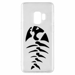 Чехол для Samsung S9 скелет рыбки