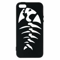 Чехол для iPhone5/5S/SE скелет рыбки