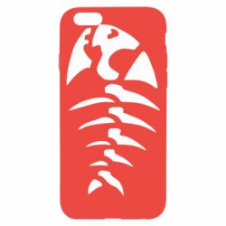 Чехол для iPhone 6/6S скелет рыбки