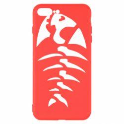 Чехол для iPhone 7 Plus скелет рыбки