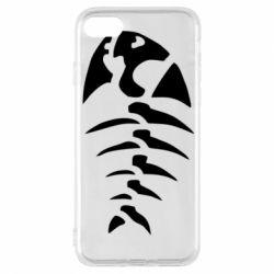 Чехол для iPhone 8 скелет рыбки