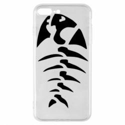 Чехол для iPhone 8 Plus скелет рыбки