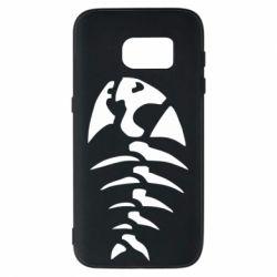Чехол для Samsung S7 скелет рыбки