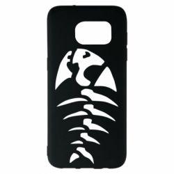 Чехол для Samsung S7 EDGE скелет рыбки