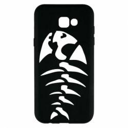 Чехол для Samsung A7 2017 скелет рыбки