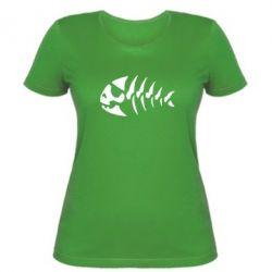 Жіноча футболка скелет рибки - FatLine