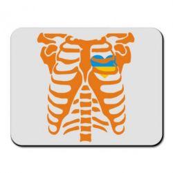 Коврик для мыши Скелет з сердцем Україна - FatLine
