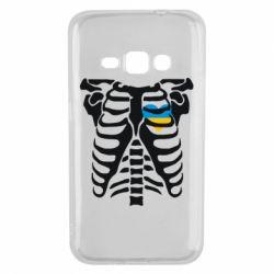 Чохол для Samsung J1 2016 Скелет з серцем Україна