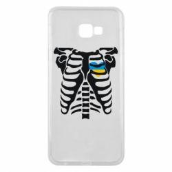 Чохол для Samsung J4 Plus 2018 Скелет з серцем Україна