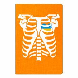 Блокнот А5 Скелет з серцем Україна