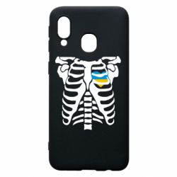 Чохол для Samsung A40 Скелет з серцем Україна
