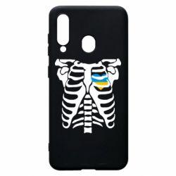 Чохол для Samsung A60 Скелет з серцем Україна
