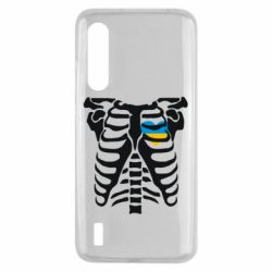 Чехол для Xiaomi Mi9 Lite Скелет з сердцем Україна