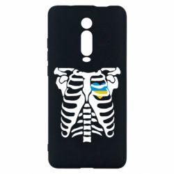 Чехол для Xiaomi Mi9T Скелет з сердцем Україна