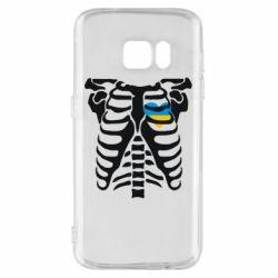 Чохол для Samsung S7 Скелет з серцем Україна