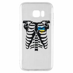 Чохол для Samsung S7 EDGE Скелет з серцем Україна