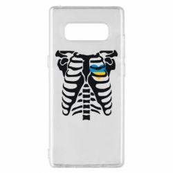 Чохол для Samsung Note 8 Скелет з серцем Україна