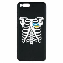 Чехол для Xiaomi Mi Note 3 Скелет з сердцем Україна