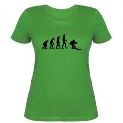 Женская футболка Ski evolution