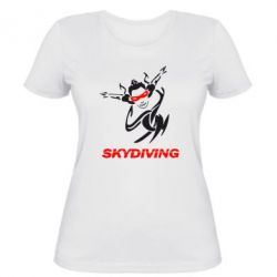 Женская футболка Skidiving - FatLine