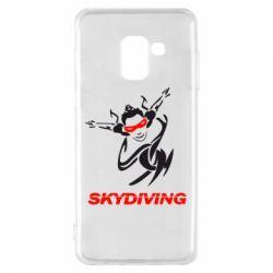 Чехол для Samsung A8 2018 Skidiving - FatLine