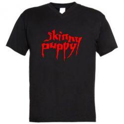 Мужская футболка  с V-образным вырезом Skinny puppy - FatLine