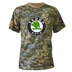 Камуфляжная футболка Skoda Auto - FatLine