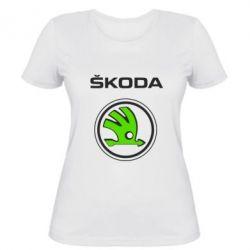 Женская футболка Skoda Bird, FatLine  - купить со скидкой